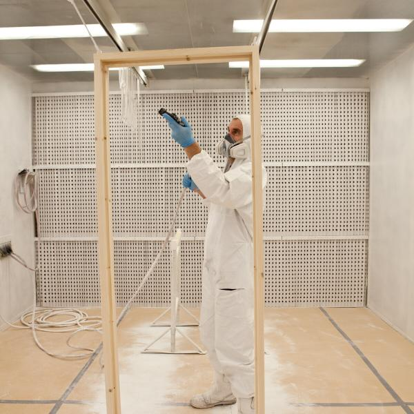 Spraying in Spray Booth
