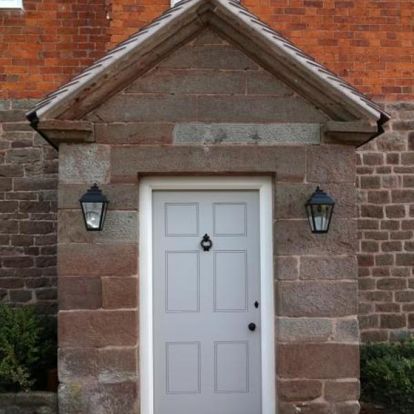 Door with porch